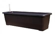Samozavlažovací truhlík BERGAMOT 50 cm čokoládová