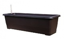 Samozavlažovací truhlík BERGAMOT 60 cm čokoládová