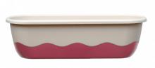 Samozavlažovací truhlík MARETA 60 cm slonová kost sv. + vínová