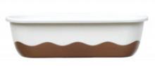 Samozavlažovací truhlík MARETA 60 cm slonová kost sv. + bronz