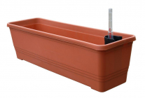 Samozavlažovací truhlík BERGAMOT 60 cm terakota
