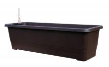 Samozavlažovací truhlík BERGAMOT 80 cm čokoládová