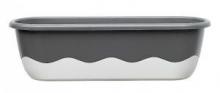 Samozavlažovací truhlík MARETA 60 cm antracit tm. + světlý