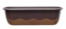 Samozavlažovací truhlík MARETA 60 cm čoko + bronz