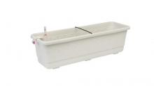 Samozavlažovací truhlík Smart Systém Fantazie 60 cm bílá