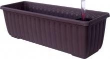 Samozavlažovací truhlík SIESTA LUX 80x20x19 čokoládová