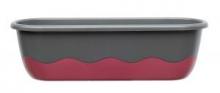 Samozavlažovací truhlík MARETA 80 cm antracit tm. + vínová