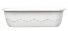 Samozavlažovací truhlík MARETA 60 cm (hák) bílá