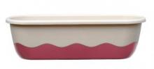 Samozavlažovací truhlík MARETA 80 cm slonová kost sv. + vínová