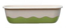 Samozavlažovací truhlík MARETA 60 cm (hák) slonová kost sv. + zelená tm.
