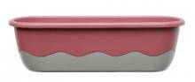 Samozavlažovací truhlík MARETA 80 cm růžová tm. + antracit sv.