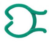 Upínací clip zelený 50 ks