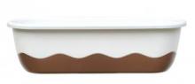 Samozavlažovací truhlík MARETA 80 cm (hák) sl.kost sv.+bronz