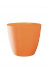 Dekorativní květináč Ella lesklá 21 cm oranžová