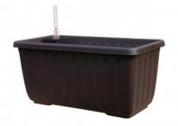 Samozavlažovací truhlík SIESTA LUX 60x20x19 čokoládová