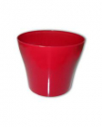 Dekorativní květináč Tulipán  17 cm červená