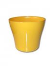Dekorativní květináč Tulipán  19 cm žlutá