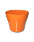 Dekorativní květináč Tulipán  19 cm oranžová