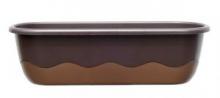 Samozavlažovací truhlík MARETA 80 cm čoko + bronz