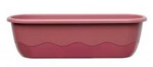 Samozavlažovací truhlík MARETA 80 cm růžová tm. + vínová