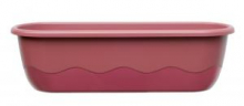 Samozavlažovací truhlík MARETA 60 cm (hák) růž.tm+vínová