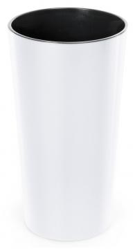 Designový květináč LILIA 25 cm bílá