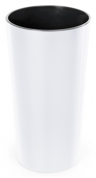 Designový květináč LILIA 30 cm bílá