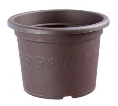 Květináč Narcis ø 40 čokoláda
